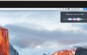 Siri Mac OS X