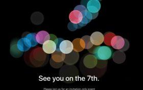 iPhone 7 pozvánka