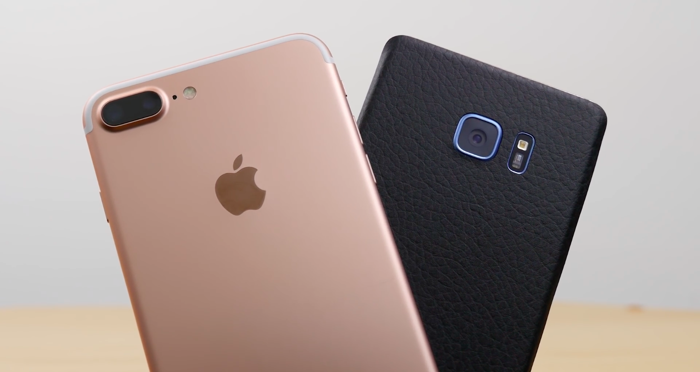 iPhone 7 Plus a Galaxy Note 7