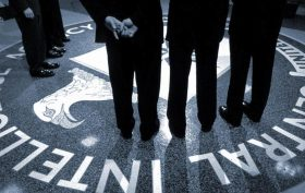 President George W Bush visits CIA Headquarters, March 20, 2001.