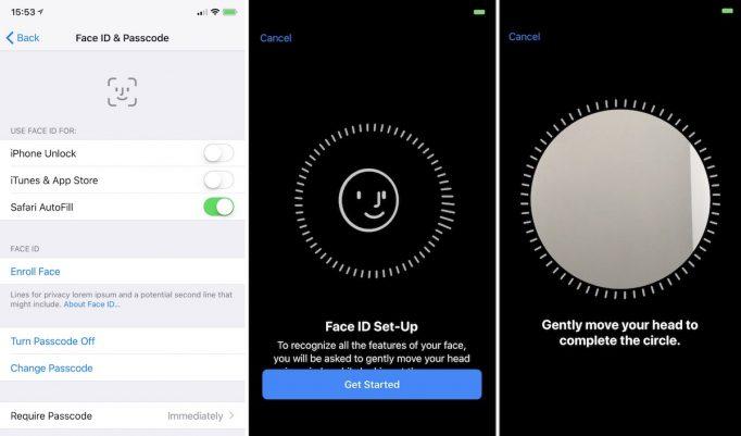 Podpora Face ID v novom iOS